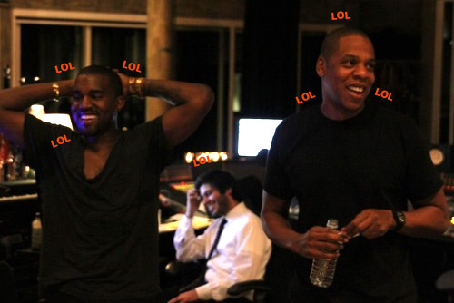 Jay-Z and Kanye West Lolling Outta Control