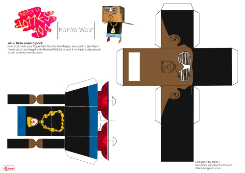kanye west paper craft doll pdf