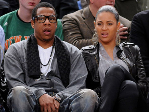 jay-z and beyonce at basket ball