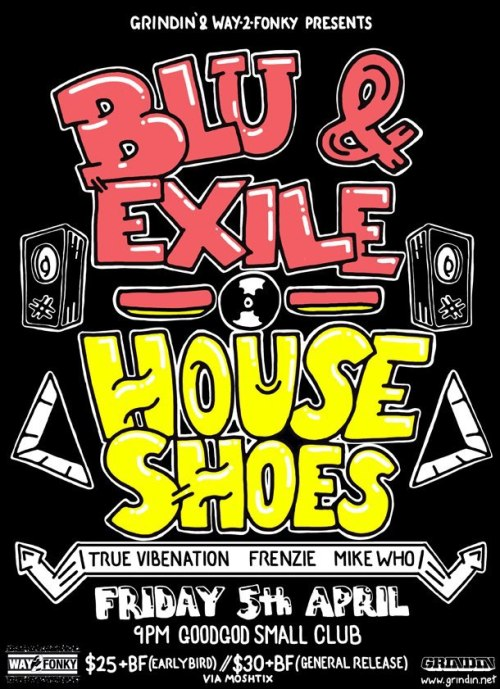 blu and exile flyer